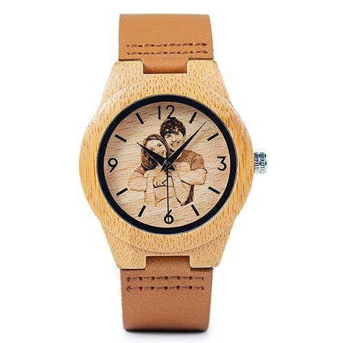 Customized Wooden Watch With Free Wooden Box