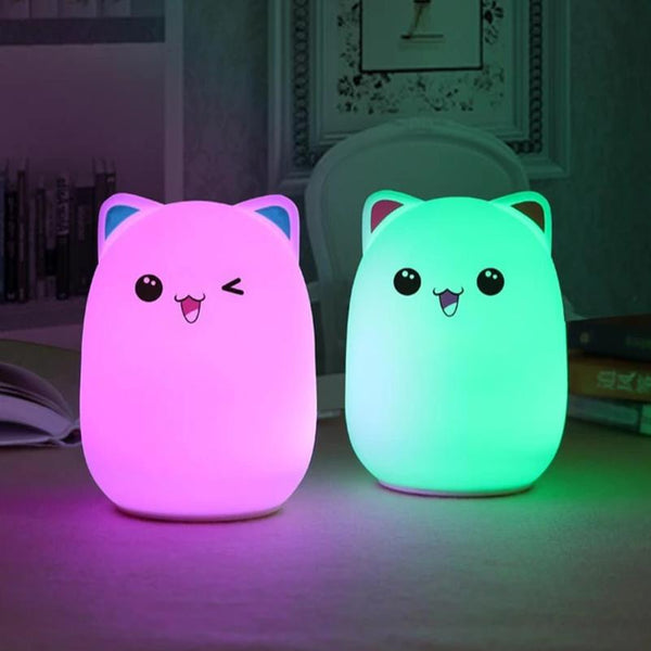 Cute Bear LED Night Lamp Silicone Toys For Kids, birthday, Christmas Gift - Teme Store