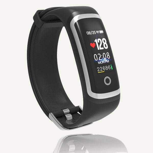M4 Blood Pressure Waterproof Fitness Tracker Heart Rate Monitor Color Screen Smart Bracelet for IOS Android - Teme Store