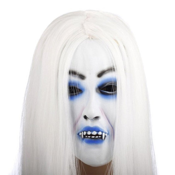 Horrible Creepy Toothy Halloween Scary Ghost Mask - Teme Store