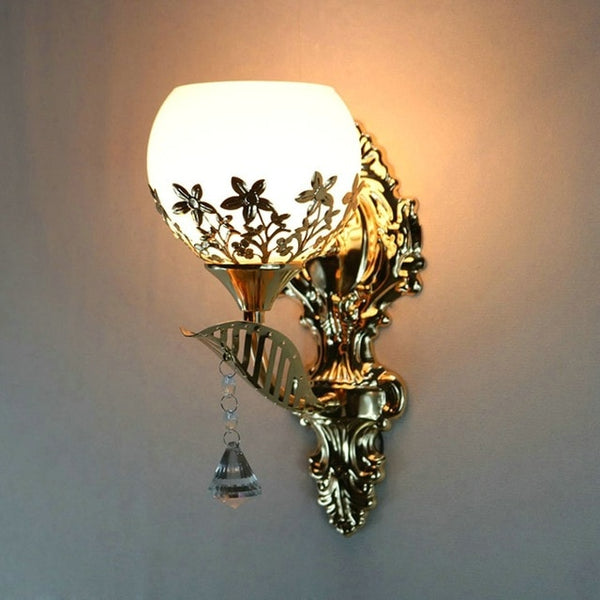 European Style Modern Gold Wall Lamp For Bedroom & Living Room Decor - Teme Store