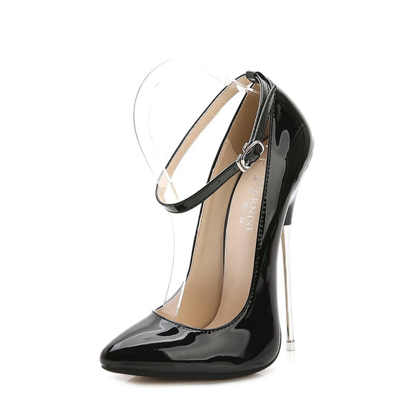 Sexy High Heels With Pointed Toe Women Leather Shoes - Teme Store