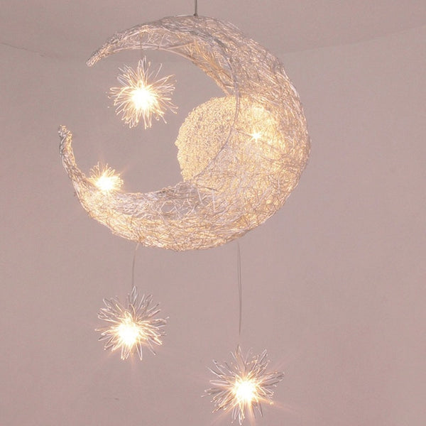 Modern Moon Star Pendant Ceiling Lamps For Home Decorations - Teme Store