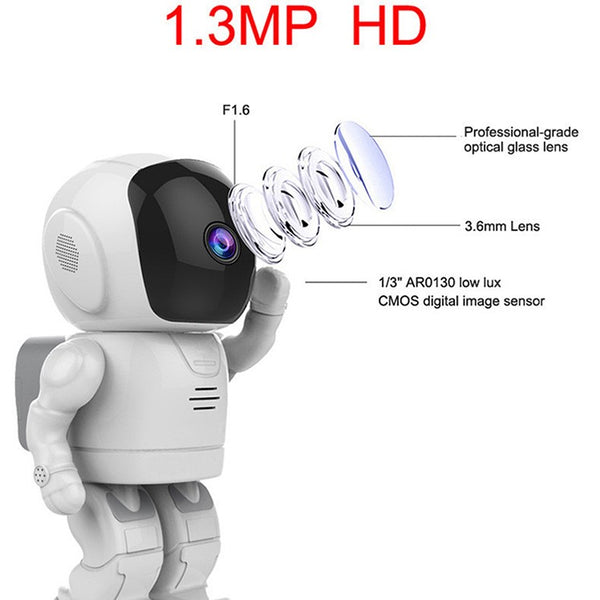 New Home Security Wireless IP Camera Robot HD 960P - Teme Store