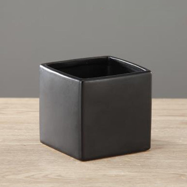 European Style Ceramic Art Square Tabletop Plants Vase