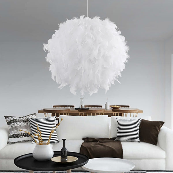 Romantic Dreamlike Feather Hanging Lamp For Bedroom Living Room Decor