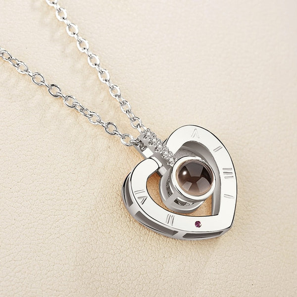 I Love You Projection Pendant Necklace in 100 Languages - Teme Store