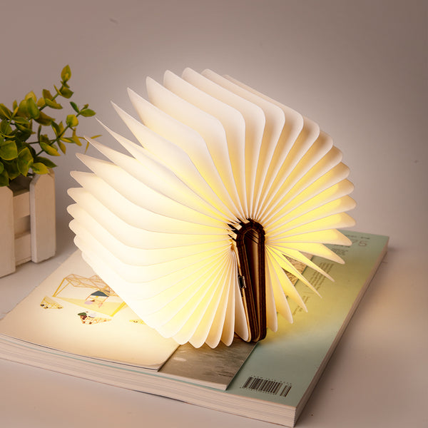 Modern Wooden Folding Book Night Lamp For Living Room & Bedroom Decor