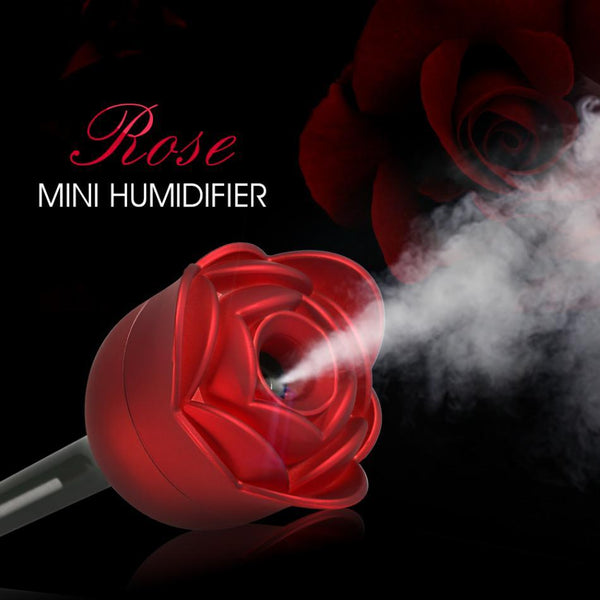 Stylish Mini Rose Shape USB Air Humidifier & Oil Diffuser - Teme Store