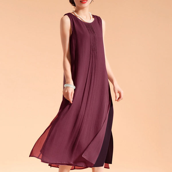 Sleeveless Summer Vintage Dress