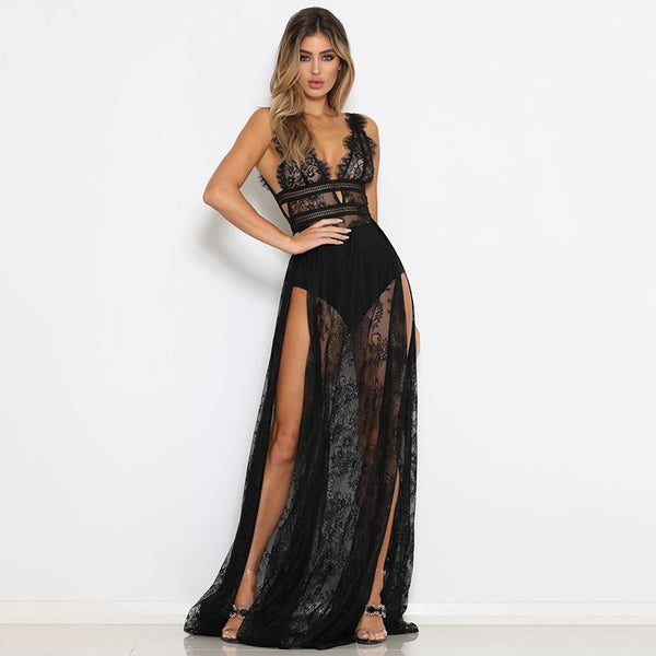 High Slit Sleeveless Maxi Long Dress - Teme Store