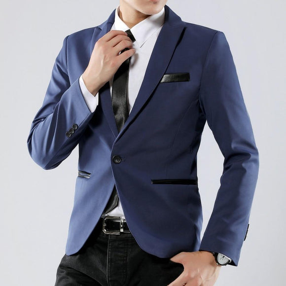 b2e66dd11 HOT Male casual jacket single breasted plus size M-5XL Mens blazer high  quality suit