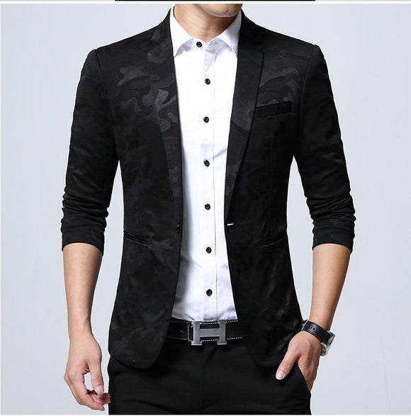 45b9914782d66 Hot Sale Mens Camouflage Pattern Blazer Jacket Slim Fit Suit For Big Men  Plus Size Camo