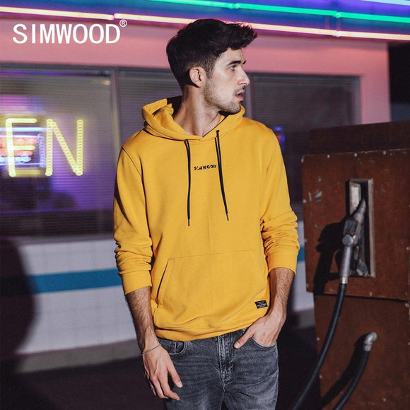 549633f04 SIMWOOD Fashion Hoodies Men Casual Hip Hop Embroidered Hooded 100% Cotton Streetwear  Sweatshirts Regular Fit