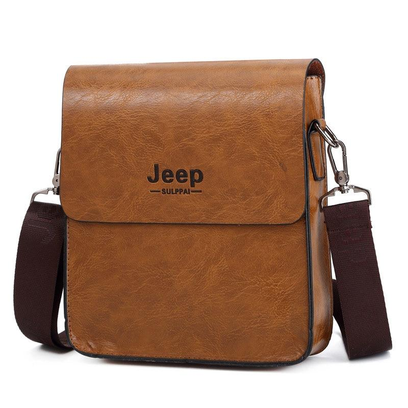 178fefd05c New JEEP BULUO Fashion Business Men s Crossbody Bag PU Leather Shoulder Bag  Briefcase for Men Jeep ...