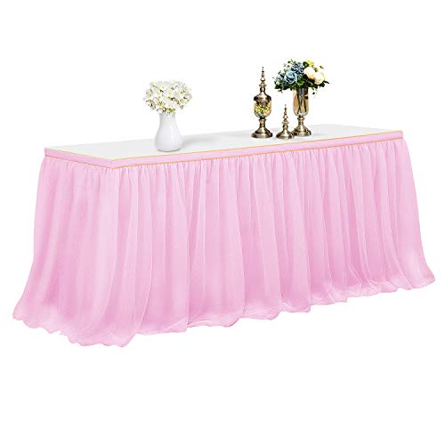 CHIGER Tulle Table Skirt