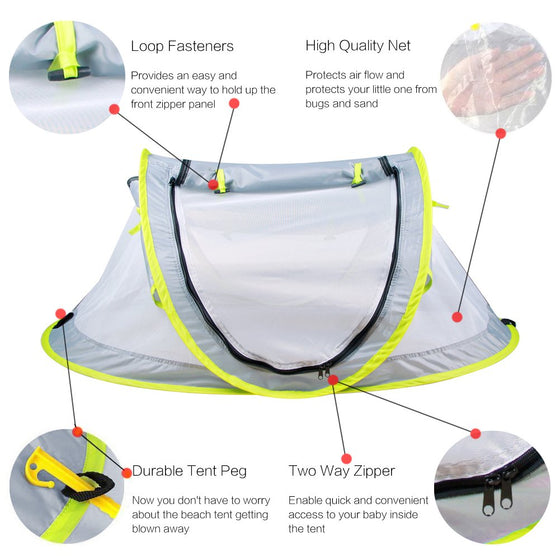 Pop-Up Baby Beach Tent