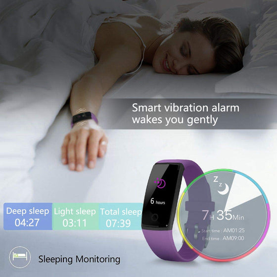 Fitness Tracker Smart Watch (Android and iPhone)