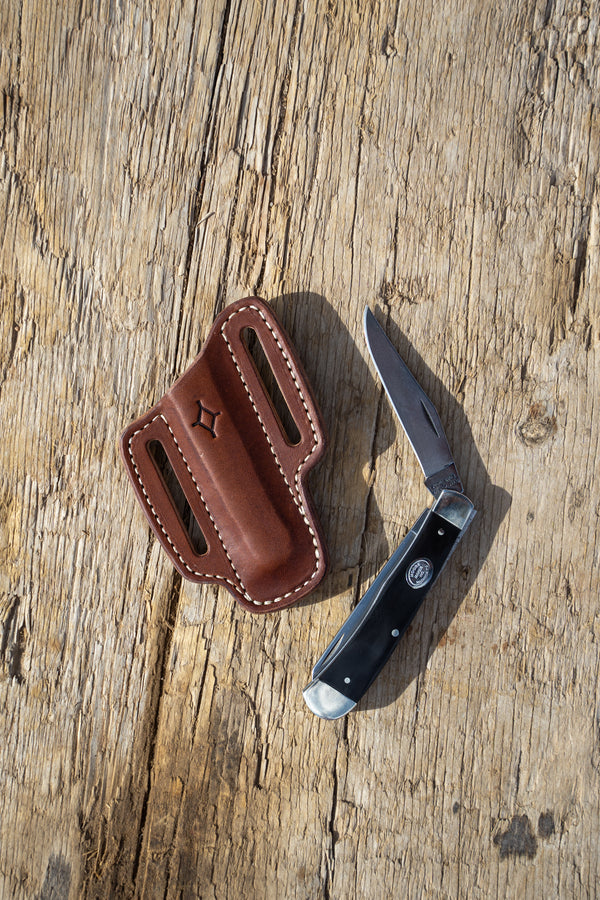 Buffalo Horn Knife with Brown Sheath