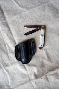 Bone Knife with Black Sheath