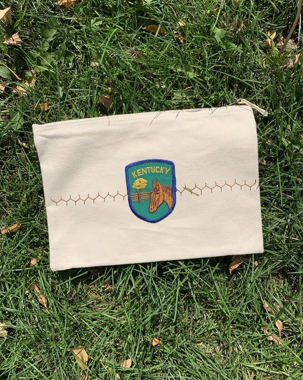 Vintage Horse Patch Pouch