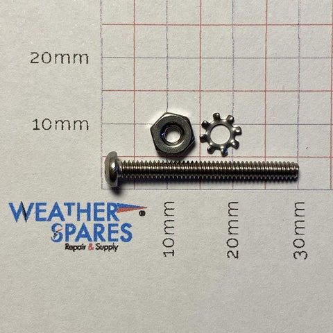 Davis Anemometer Mounting Arm Screw Set (DASS1) - Weather Spares