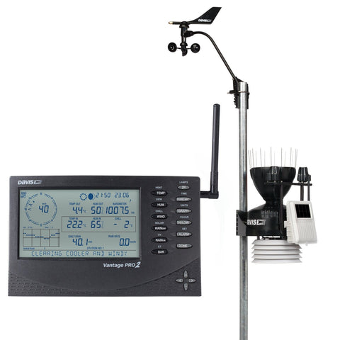 Davis Vantage Pro2 Wireless Station including Solar and UV Sensors (6162UK) - Weather Spares