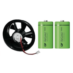 Davis Weather Station Vantage Pro2 replacement FARS fan and battery set (7758B) - Weather Spares