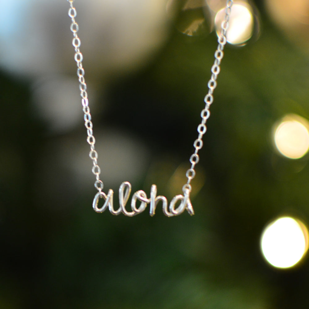 Sterling Silver Hand Made Necklace (Aloha- Limited Edition)