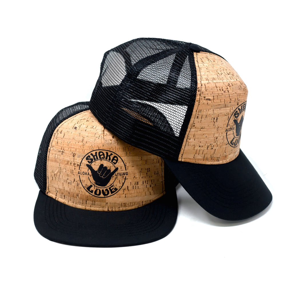 Shaka Love Eco CORK Hat with Logo, Black