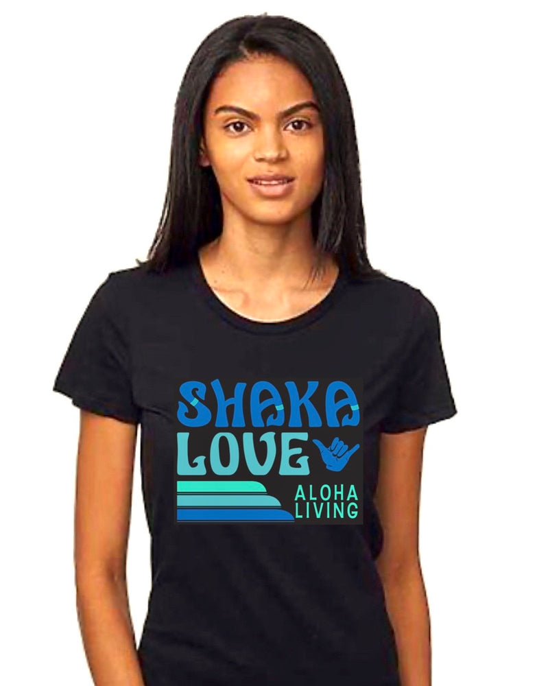 Women's Shaka T-shirt - Black, Short Sleeve - Organic Cotton