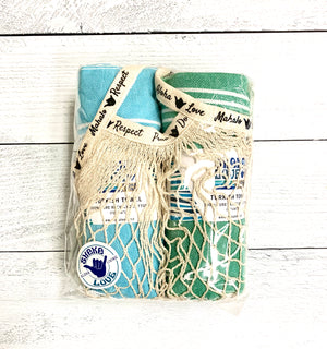 Summer Essentials Package #4: Includes 2 Turkish Towels & 1 Beach Bag