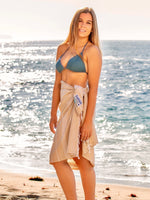 "Shaka Beach Towel - Sandy Toes Beige - 100% Recycled Cotton-Large size 72""x36"" -  Turkish Pestemal"