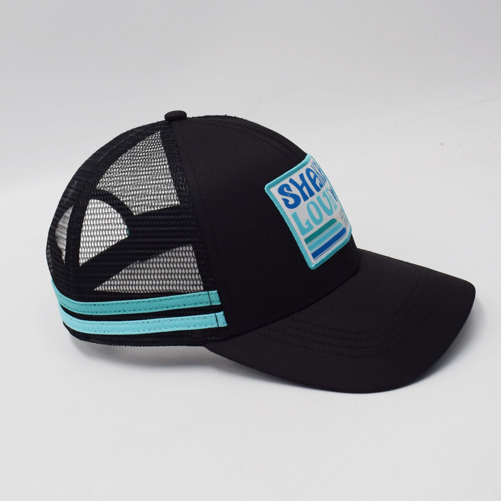 Eco Surf Hat, Black with Patch, Organic & Recycled Materials