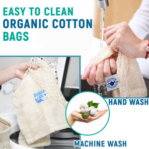 Organic Cotton Long Handle Tote & Beach Bag