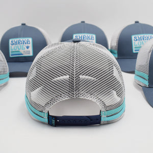 Eco Surf Hat, Surf Blue with Patch, Organic & Recycled Materials