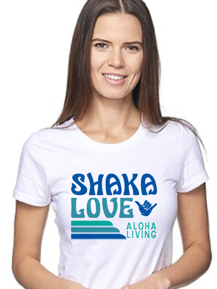 Women's Shaka T-shirt - White, Short Sleeve - Organic Cotton