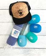 Endless Summer Package #2:  Includes Hat, Towel, & Wine Glass Set