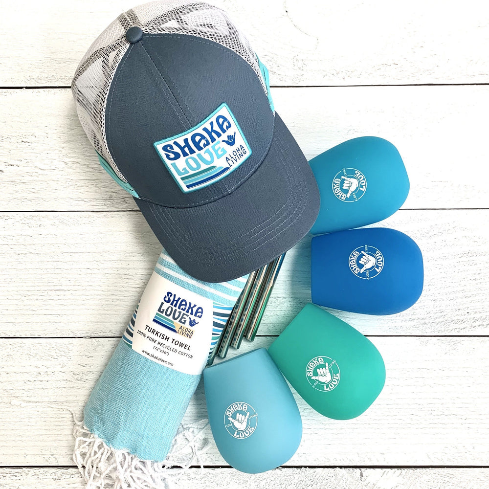 Bundle Package #2:  Includes Hat, Towel, & Wine Glass Set