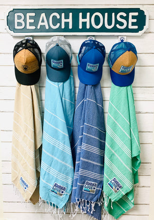 "Shaka Beach Towels - Multi-Color Set Includes 4 100% Recycled Cotton-Large size 72""x36"" Towels"