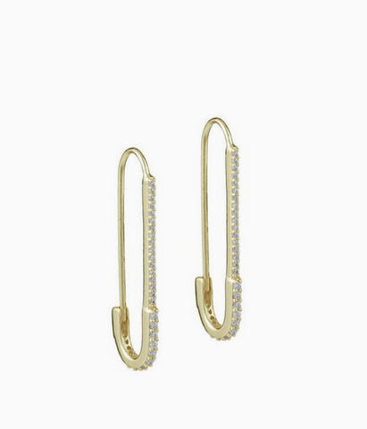 Adina Safety Pin Earrings
