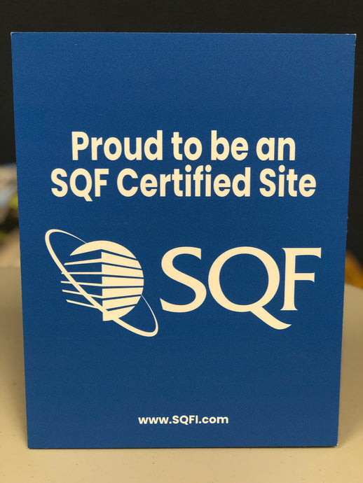 SQF Certified Site Table Sign