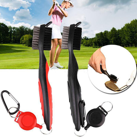 Brush Golf Cleaning Brush Golf clubs Care Groove Cleaner Golf Club Brush Retractable Zip-Line accessory 21 cm PP