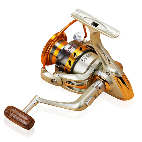 Portable Spinning Fishing Reel for Freshwater Saltwater Fishing 1000-7000 Series 5.5:1 Baitcasting Reel