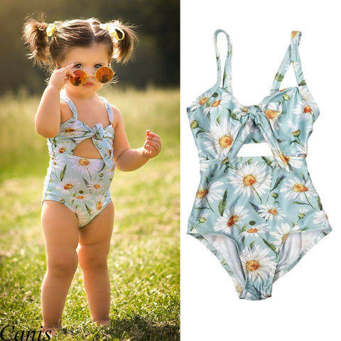 Hirigin New Baby Girl Floral Swimwear Strap Flower Bathing Suit One-Pieces Summer 1-6T Outfits
