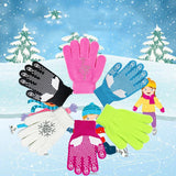 Children Waterproof Winter Warm Gloves Ski Skating Outdoor Sport Skiing Anti-slip Full Finger Gloves