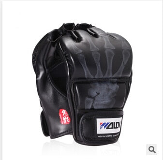 New Grappling MMA  Boxing Gloves Black/White W8861