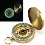 Camping Hiking  Pocket Compass  Brass Watch Style