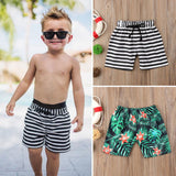 Sale 2019 New Fashion Toddler Kids Baby Boy Floral Striped Print Shorts Beach Pants Casual Sport Trousers