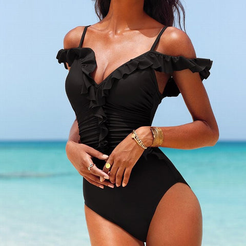 One Piece Swimwear Lace-up Backless Monokini Bathing Suit